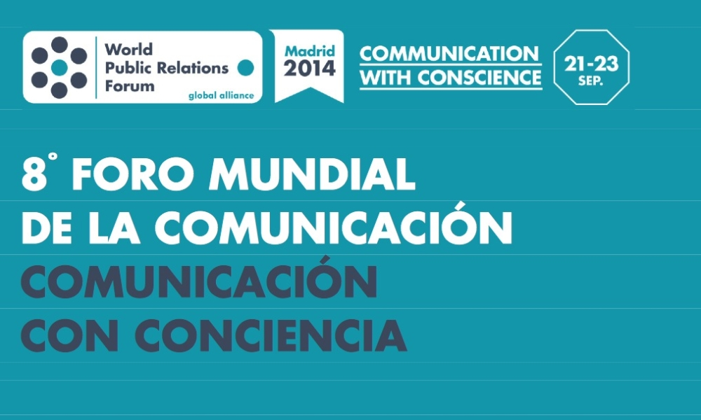 Invitada como ponente al World Public Relations Forum 2014